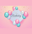 happy birthday celebration design for greeting vector image