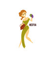 hestia olympian greek goddess ancient greece vector image