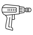 home electric drill icon outline style vector image vector image