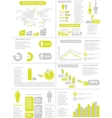 INFOGRAPHIC DEMOGRAPHICS NEW STYLE YELLOW vector image vector image