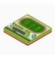 Isometric football stadium vector image