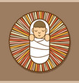 jesus born in a manger cartoon graphic vector image