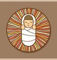 jesus born in a manger cartoon graphic vector image vector image