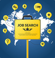 Job search infographics vector image vector image