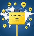 Job search infographics vector image