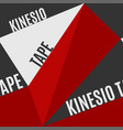 kinesio tape horizontal seamless pattern vector image vector image
