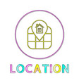 location identification service linear round icon vector image