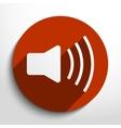 loudspeaker web icon vector image vector image