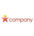 luxury crown spa salon logo vector image vector image