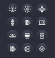 modern payment methods internet banking icons set vector image