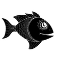 Monochrome stylized Fish vector image