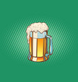 mug of foamy beer vector image vector image