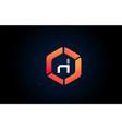 orange white polygon h letter alphabet logo vector image vector image