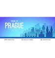Prague famous city scape