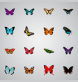 realistic polyommatus icarus tiger swallowtail vector image vector image