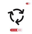 recycle arrows icon vector image