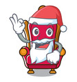 santa king throne mascot cartoon vector image