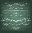 set decorative design elements and page decor vector image