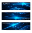 Set of bright digital banners vector image vector image