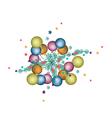 Set of Christmas Ball Decoration on Fir Twigs vector image vector image