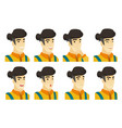 set of farmer characters vector image vector image