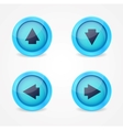 Set of glossy icons with arrows vector image vector image