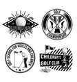 set of golf emblems labels badges logos vector image vector image