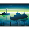 Ship by Lighthouse vector image
