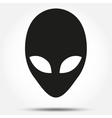 Silhouette symbol of Alien head creature from vector image vector image