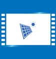 solar energy eco concept icon vector image