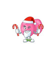 streptococcus pyogenes humble santa having candies vector image vector image