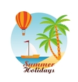 Summer design Holidays icon Colorful vector image