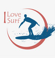 surfing typography for design clothes vector image vector image