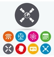 Teamwork icons Helping Hands symbols vector image vector image