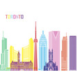 toronto skyline pop vector image vector image