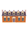 urban retro colonial style building cartoon vector image vector image