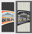 vertical layouts for berlin vector image