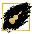 violin sign golden icon at vector image