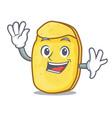 waving potato chips character cartoon vector image vector image
