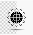 world globe seo business optimization glyph icon vector image vector image