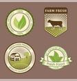 bio farm organic eco healthy food templates and vector image