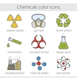 Chemical industry icons vector image