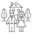 family house line icon sign vector image