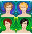handsome young men vector image