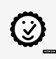 high quality symbol smile black and white icon vector image