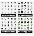 Set of icons for designers vector image