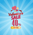 valentines day sale 40 Percent typographic vector image