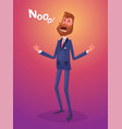 funny disappointment business man character vector image