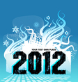 new year design 2012 vector image