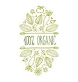 100 Organic Sign vector image vector image